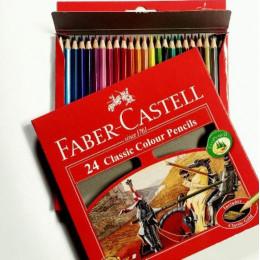 مداد رنگی 24 رنگی فابر کاستل