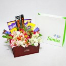 جعبه گل و شکلات