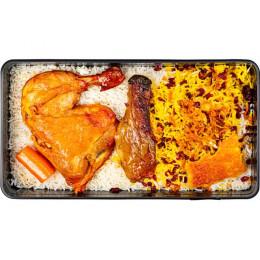 زرشک پلو با  ران مرغ
