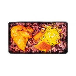 آلبالو پلو با سینه مرغ