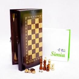 شطرنج و  تخته چوبی